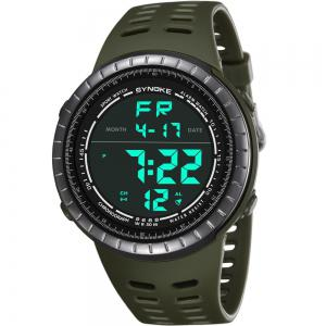 SYNOKE 9688 Outdoor Sports Student Large Dial Electronic Watch -