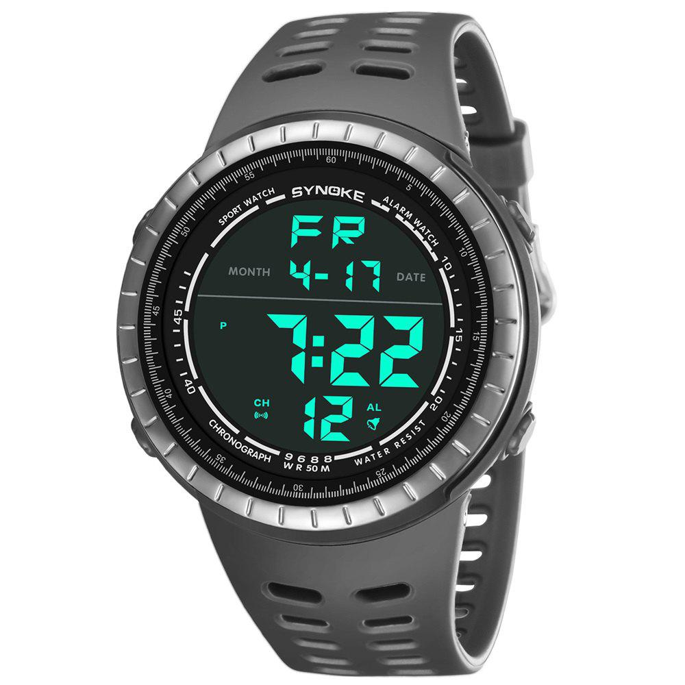 Discount SYNOKE 9688 Outdoor Sports Student Large Dial Electronic Watch
