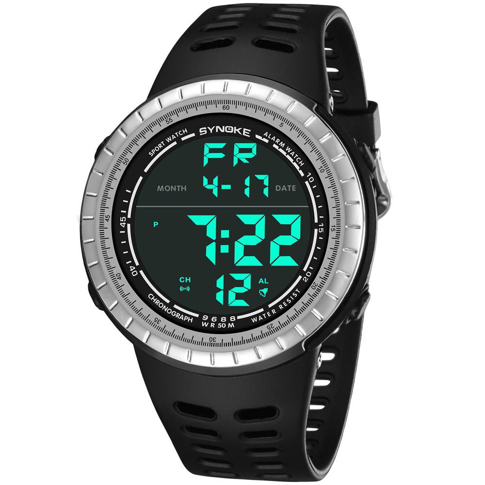 Affordable SYNOKE 9688 Outdoor Sports Student Large Dial Electronic Watch