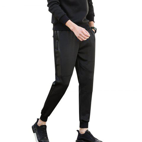 Fancy Jogging Pants with Zipper Pockets Pants
