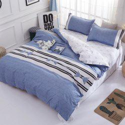 South Cloud  Bedclothes Set Elegant Modern Striped Double Sided Comfy -