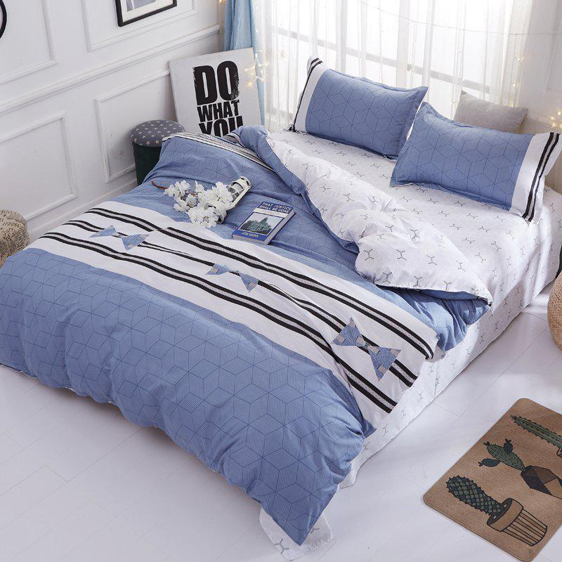 Trendy South Cloud  Bedclothes Set Elegant Modern Striped Double Sided Comfy