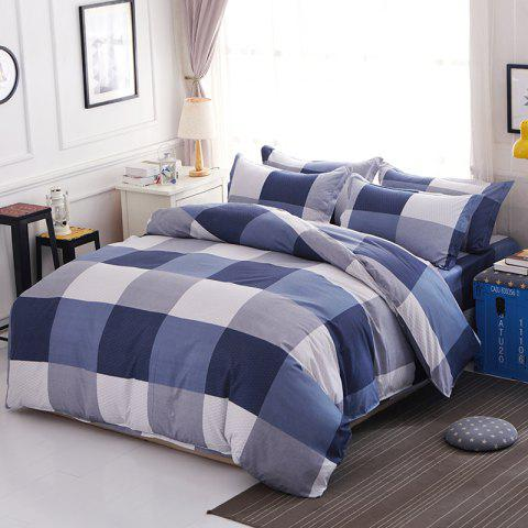 Fashion Duvet Cover Set Classic Plaids Pattern Home Brief Style Bedding