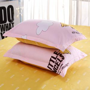 Bedclothes  Sweet Letters Pattern Comfortable Home Bedsheet Set -