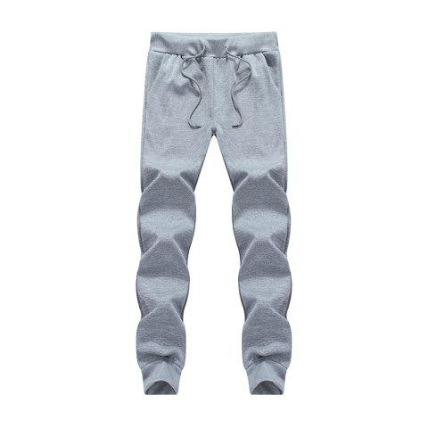 Outfits Male Jogging Pants Waist Pulling Rope Pants