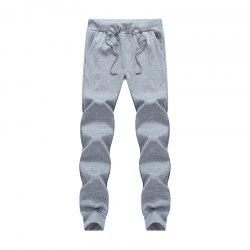Male Jogging Pants Waist Pulling Rope Pants -