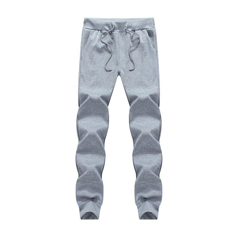 Discount Male Jogging Pants Waist Pulling Rope Pants
