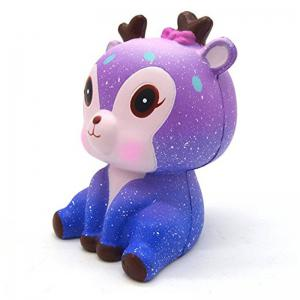 Galaxy Cute Deer Cream Scented Jumbo Squishy Slow Rising Squeeze Strap Kids Toy Gift -