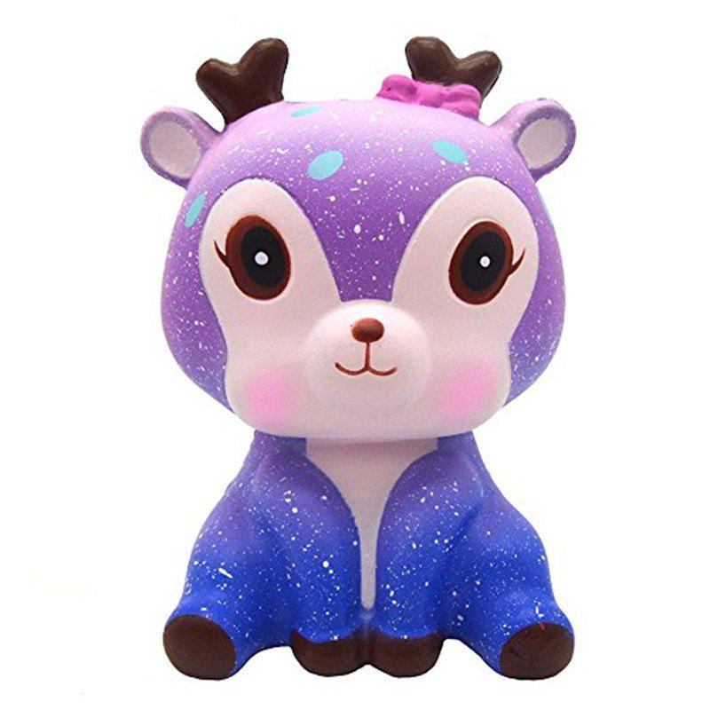 Shop Galaxy Cute Deer Cream Scented Jumbo Squishy Slow Rising Squeeze Strap Kids Toy Gift