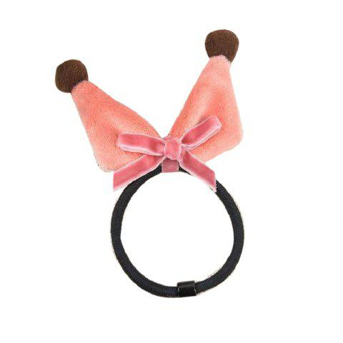 Best Three-Dimensional Manual Wool Ball Rabbit Ears Elastic Hair Band