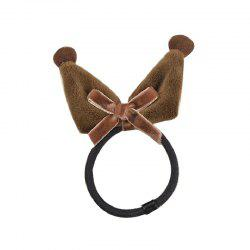 Three-Dimensional Manual Wool Ball Rabbit Ears Elastic Hair Band -