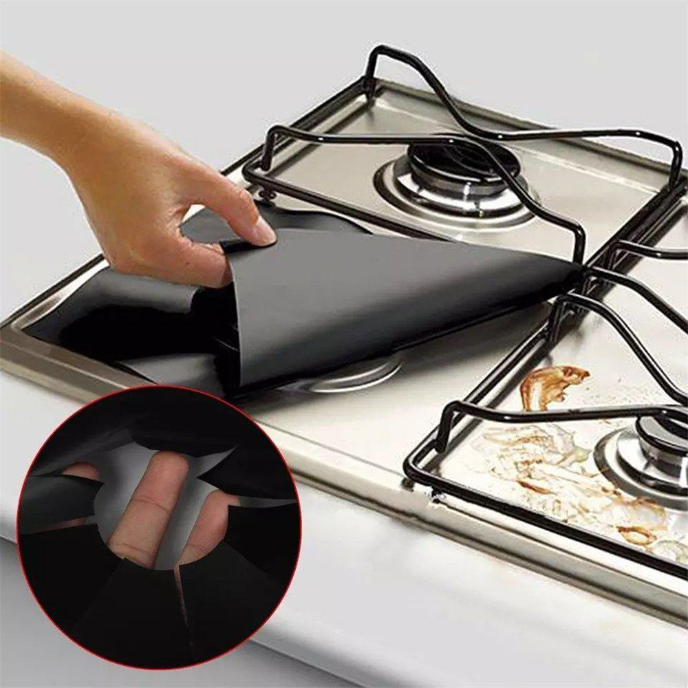 Buy 4pcs Safety Nonstick Gas Stove Protection Mat