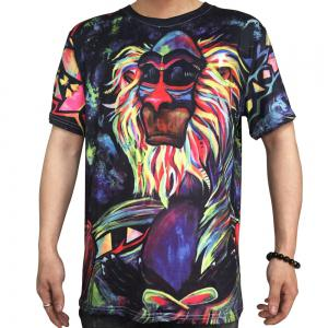 Trend Digital Printing Short-Sleeved T-Shirt -