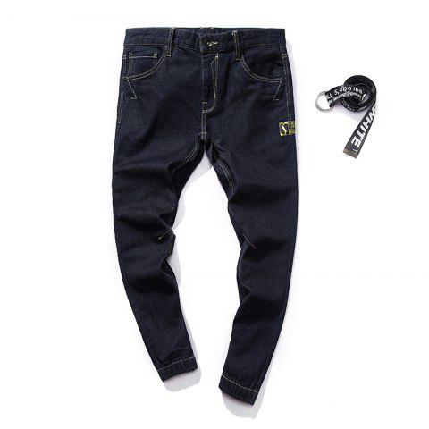 Cheap Stylish and Simple Trend Slim Men's Jeans