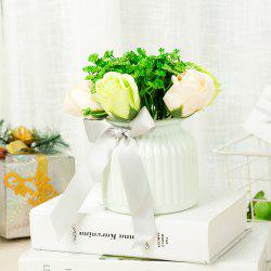 WXQY-09 Home Ceramic Rose Flower Pot -