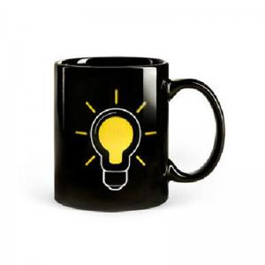 BALDR  Gadget Light Bulb Mug Heat Sensitive Colour Changing Gift -