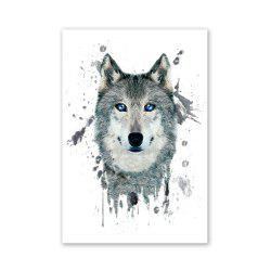 W027 Wolf Head Unframed Wall Art Canvas Prints for Home Decoration -