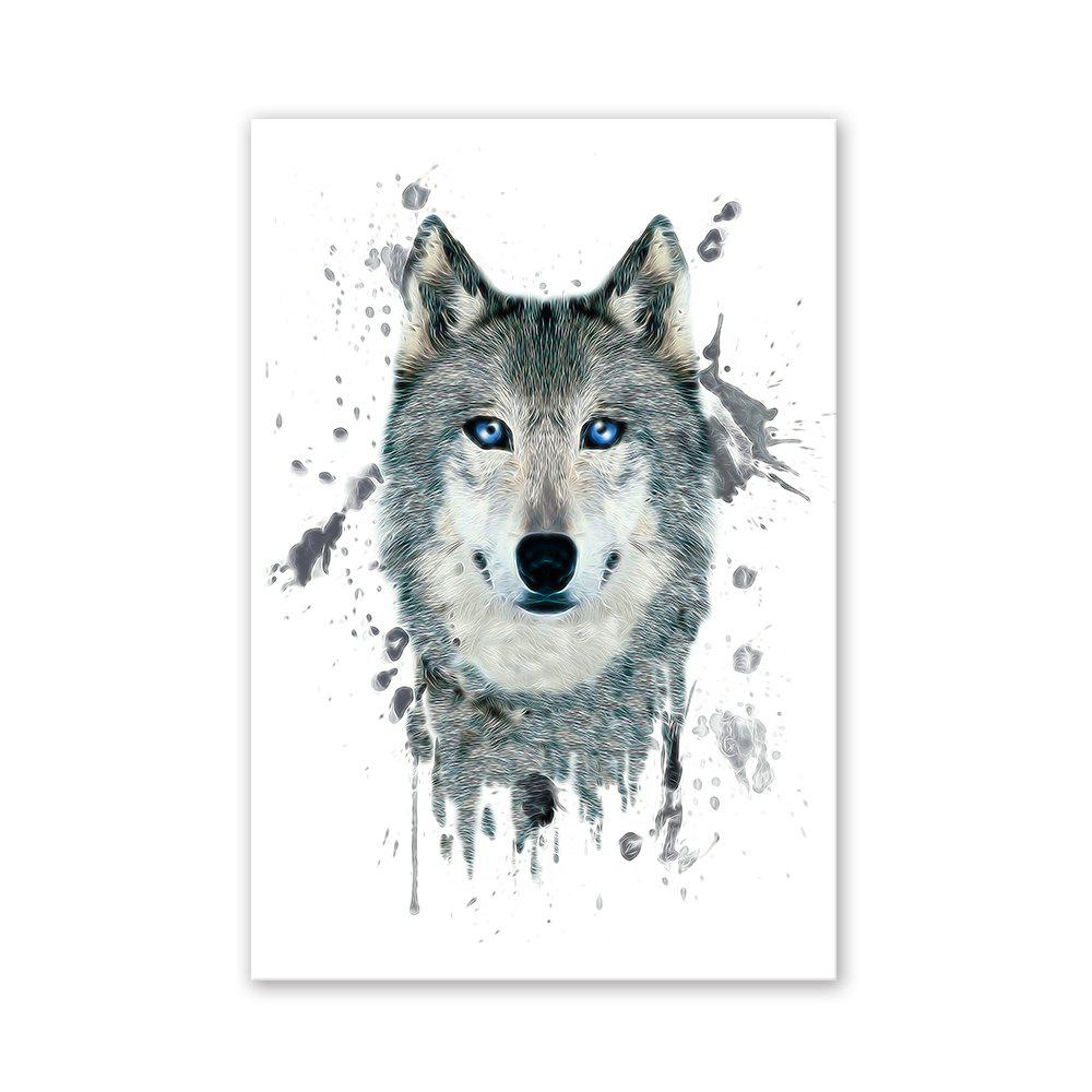 Chic W027 Wolf Head Unframed Wall Art Canvas Prints for Home Decoration
