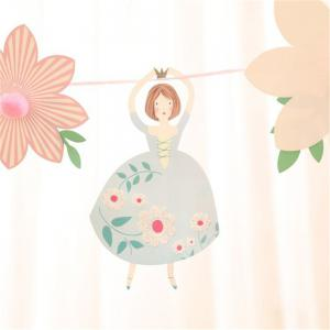 The Princess Wedding Paper Garlands For Baby Birthday Shower -