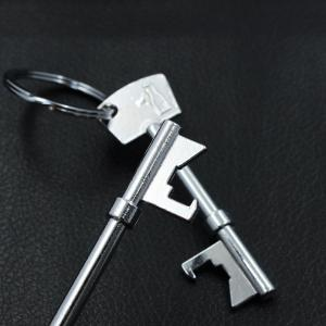 Beer Corkscrew Keychain Metal Bottle Opener Bar Tool -