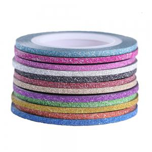 Matte Glitter Nail Striping Tape Set 2mm Ligne Multi Couleur 10pcs -