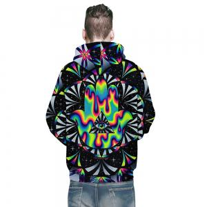 Sweat à capuche New Fashion Palm Eye 3D impression pour homme -