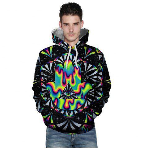 Unique New Fashion Palm Eye 3D Printing Men's Hoodie