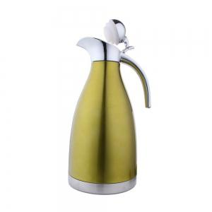 2L Stainless Steel Coffee Cold Drink Kettle Household Water Pitcher Bottle 68 OZ -