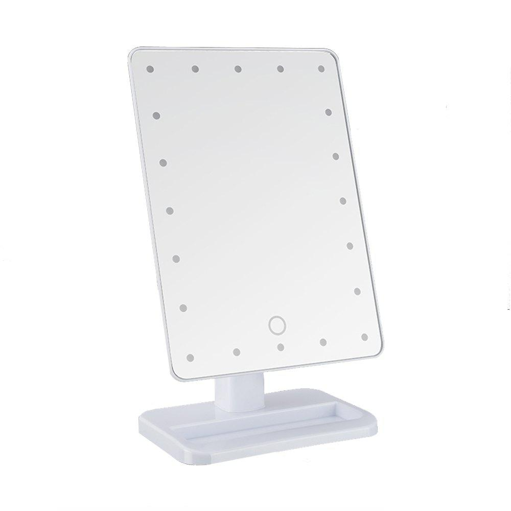 Discount LED Light Makeup Mirror with Touch Screen Dimming Detachable 10X Magnification