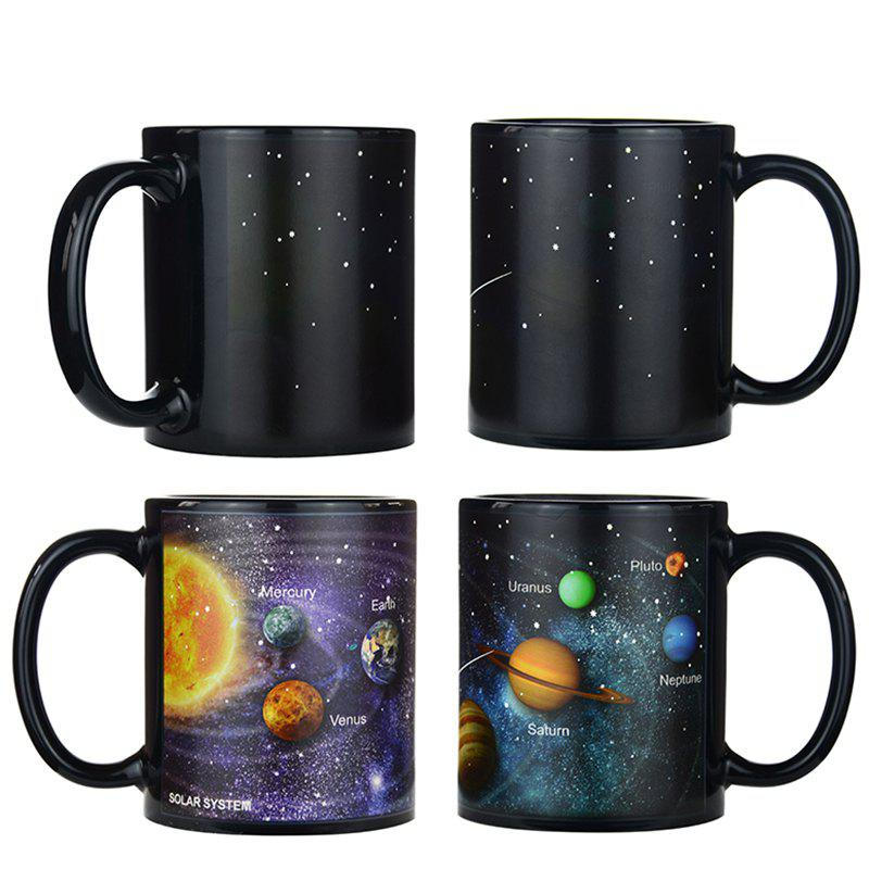Fashion BALDR Creative Porcelain Mug Starry Solar System Discoloration Cup