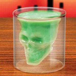 Magic Transparent Glass Skull Mugs Coffee Cups -
