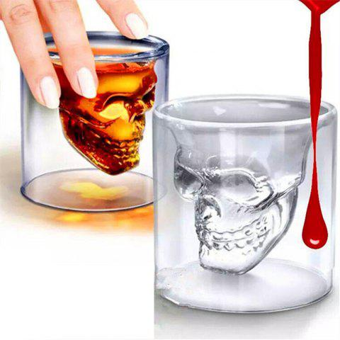 Outfit Magic Transparent Glass Skull Mugs Coffee Cups