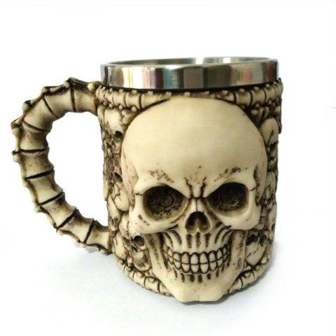 Hot BALDR 3D Skull Dragon Claw Knight Skeleton Spine Stainless Steel Cup Coffee Mug