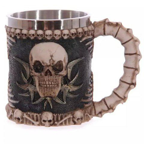 Sale BALDR 3D Skull Dragon Claw Knight Skeleton Spine Stainless Steel Cup Coffee Mug