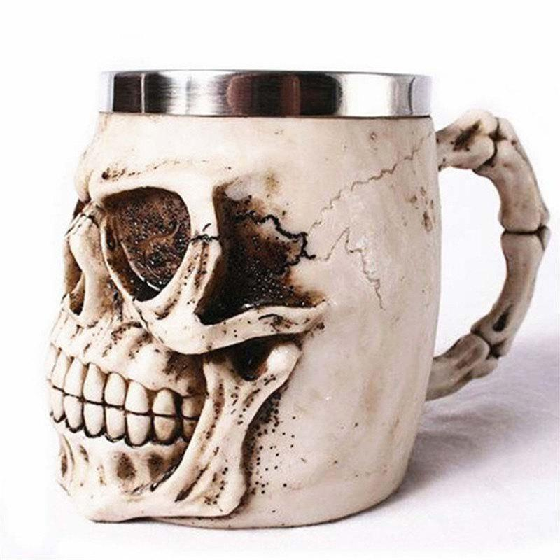 Fancy BALDR 3D Skull Dragon Claw Knight Skeleton Spine Stainless Steel Cup Coffee Mug