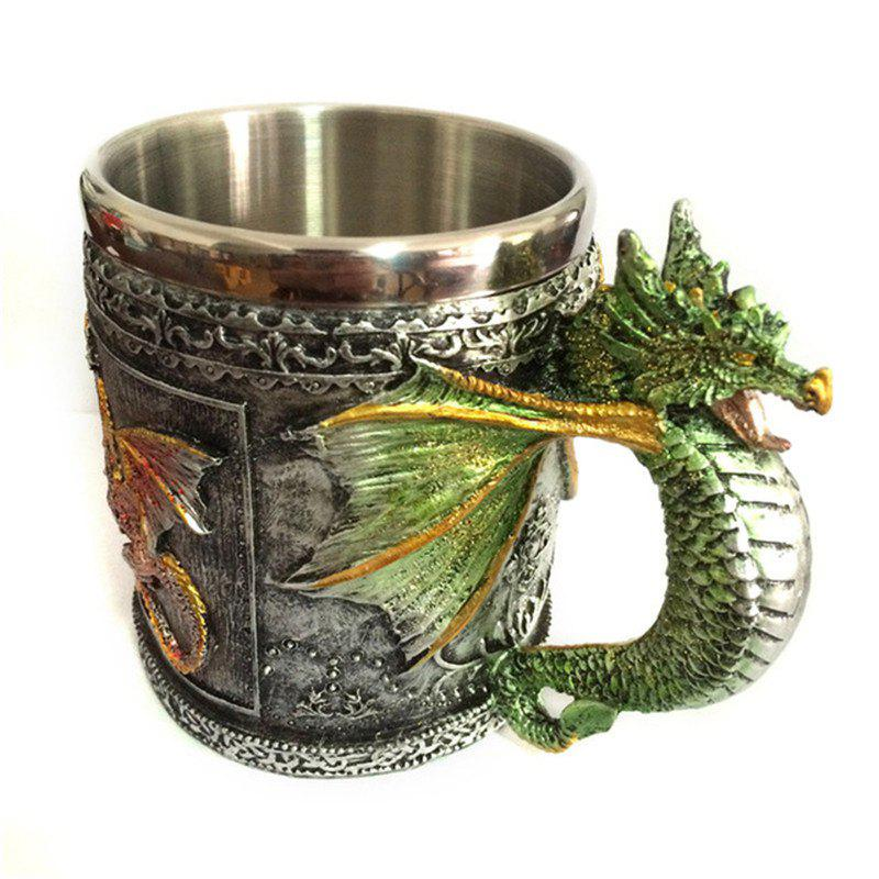 Online BALDR 3D Skull Dragon Claw Knight Skeleton Spine Stainless Steel Cup Coffee Mug