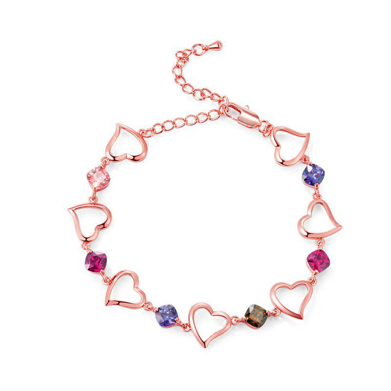 Best Fashion Heart Connected White Zircon Anklet