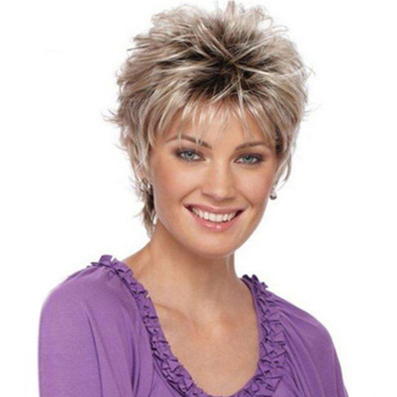 Online Fashionable Lady Gradient Short Wig