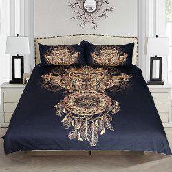Golden Owl Bedding  Duvet Cover Set Digital Print 3pcs -