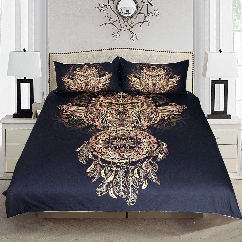 Affordable Golden Owl Bedding  Duvet Cover Set Digital Print 3pcs
