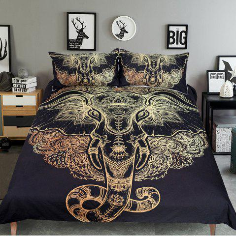 Unique Tribal Elephant Bedding  Duvet Cover Set Digital Print 3pcs