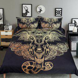 Tribal Elephant Bedding  Duvet Cover Set Digital Print 3pcs -