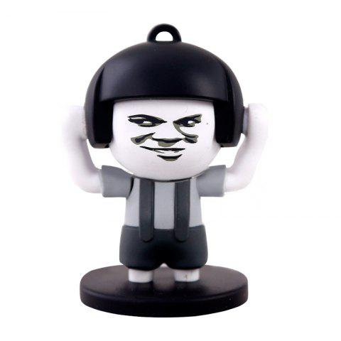Outfits 4 Faces Mushroom Head Face Expression Changing Action Figure Keychain Toy Gifts