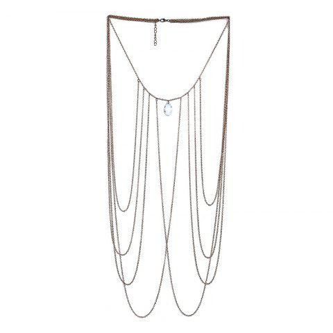 Chic Fashion Sexy Multi-Layer Crystal Beach Bikini Body Chain Accessories Necklace