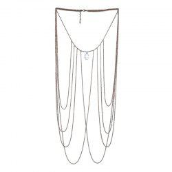 Fashion Sexy Multi-Layer Crystal Beach Bikini Body Chain Accessories Necklace -