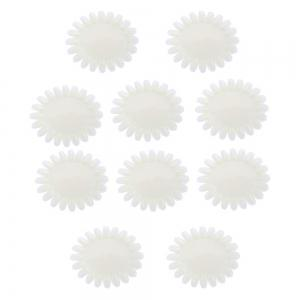 Nail Polish Display Clear Acrylic Tips Manicure Practice Tool 10pcs -