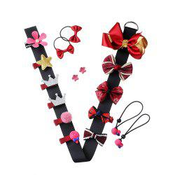 Baby Headdress Set Girl Headband Baby Supplies Bow Knot Hairpin -