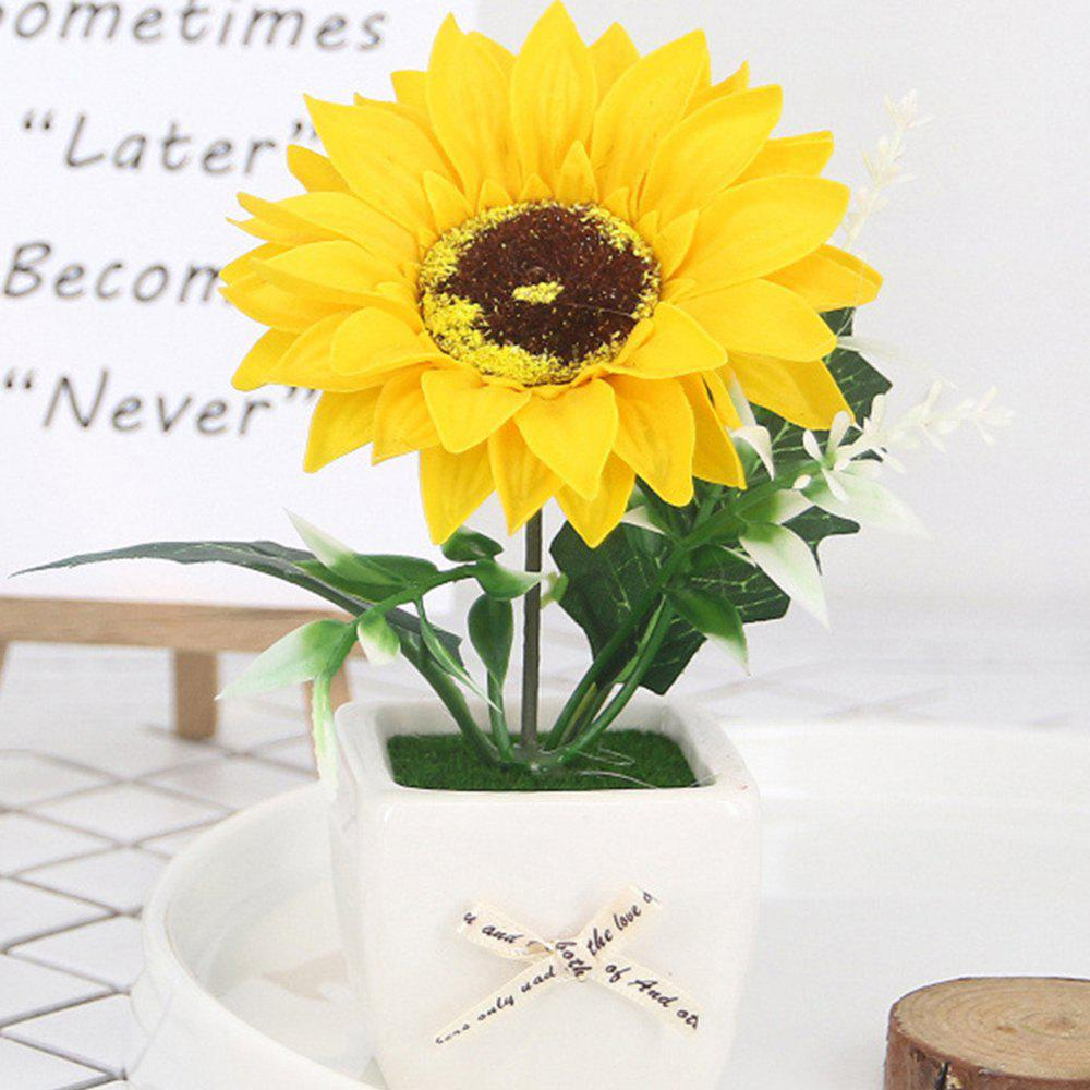 Affordable Sunflower Simulated Flower Bonsai