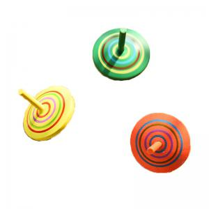 Wooden Spinning Top Gyro Children Traditional Child Classic Desktop Toy -