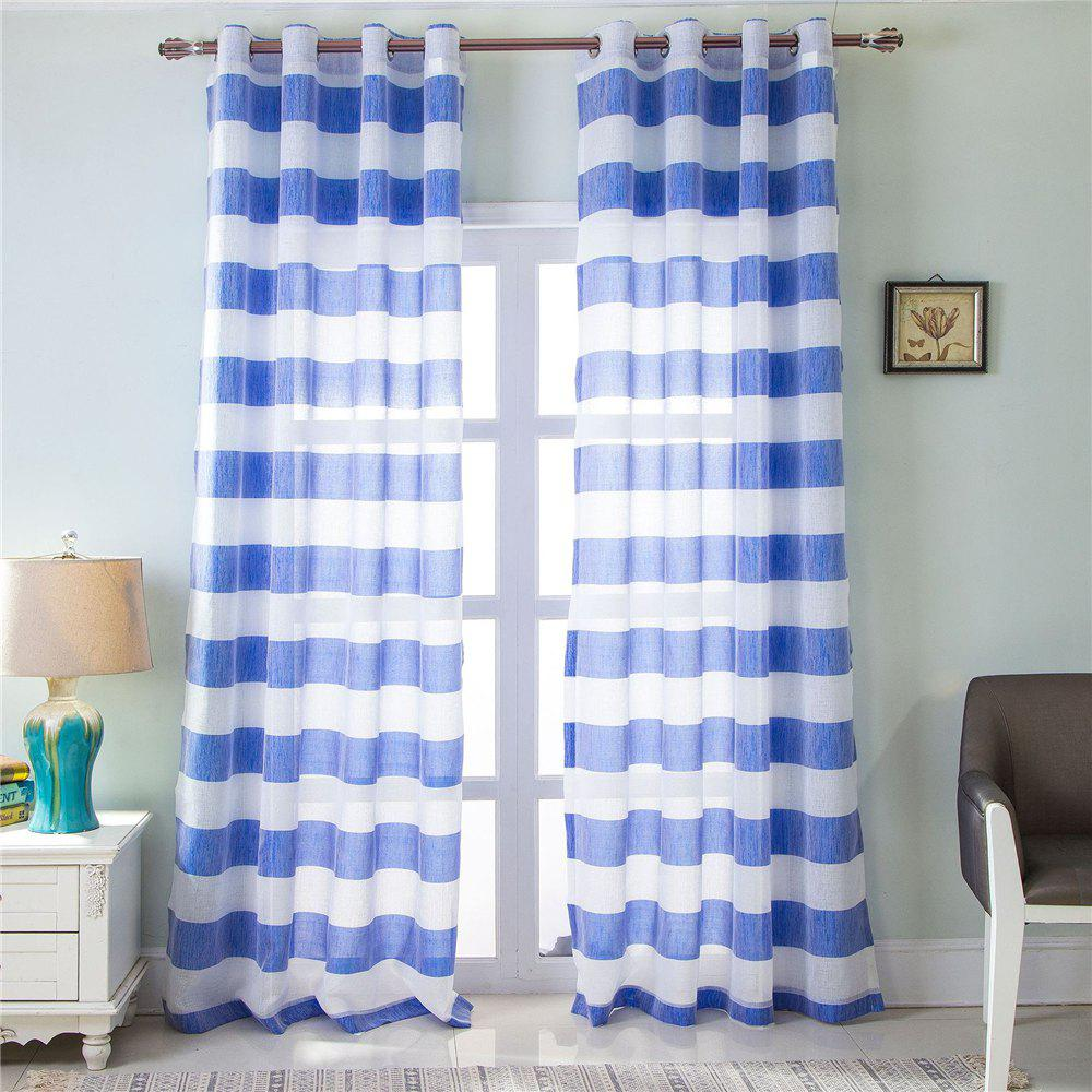 Discount 1PCS Fresh and Simple Style Striped Curtain